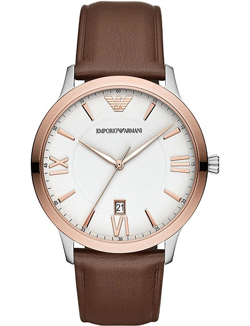 Brown Analogue Watch