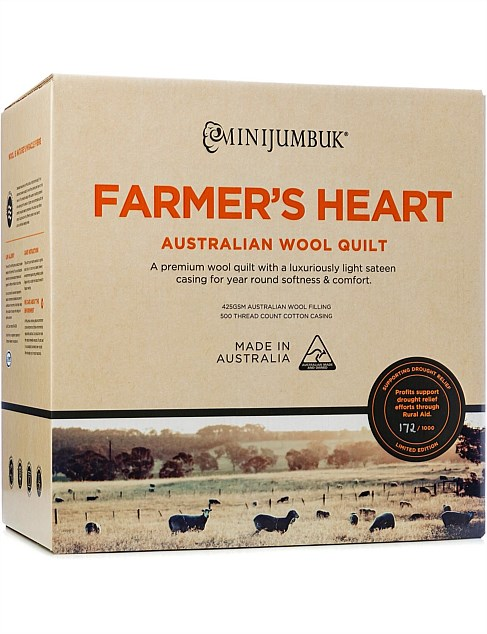 Farmer's Heart Australian Wool Quilt Queen