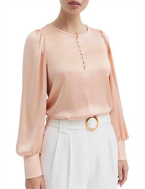 Textured Button Blouse
