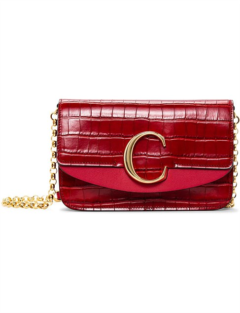 CHLOE C CLUTCH WITH CHAIN