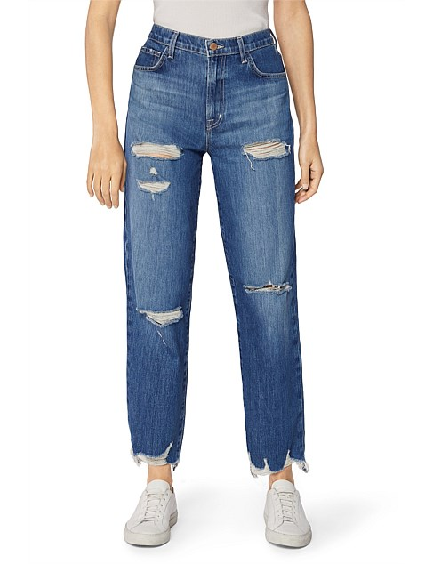 Fray Jules Super High Rise Straight Leg Jeans