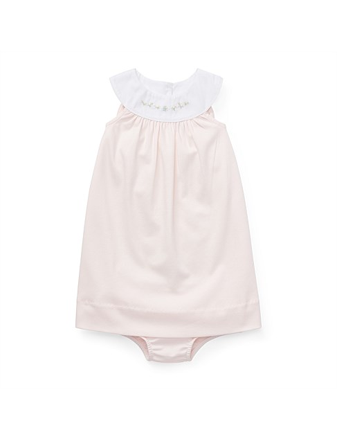 Embroidered Cotton Dress (3-24 Months)