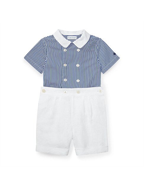 Striped Shirt and Short Set (3-24 Months)