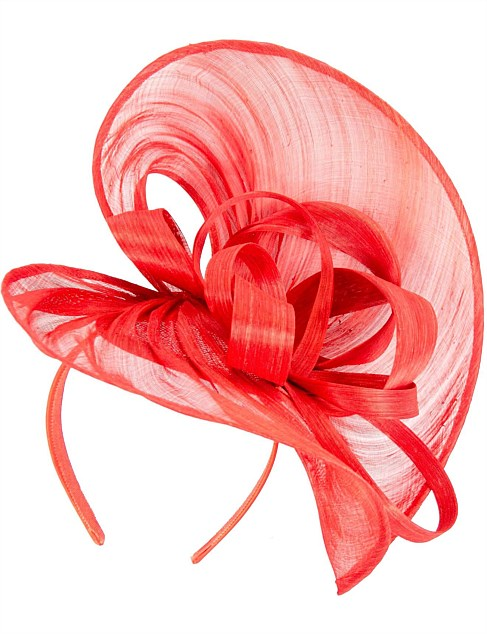large red  hear-shaped silk abaca hatinator