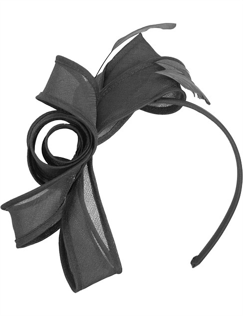black bow with feathers