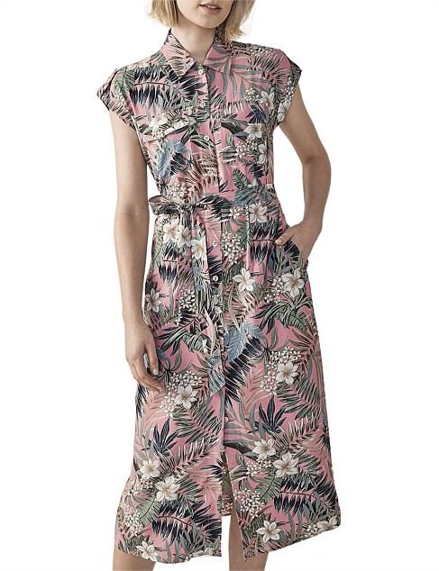 Sheinstreet Chic Casual Tropical Floral Halter Mini