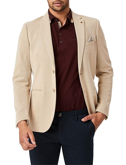 Terria Cotton Blend Slim Fit Blazer