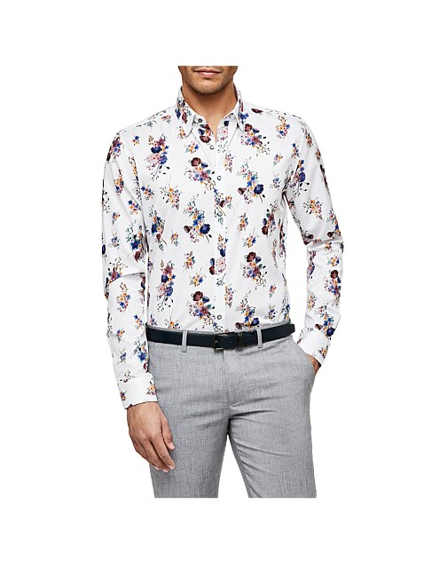 Lione Slim Fit Floral Shirt