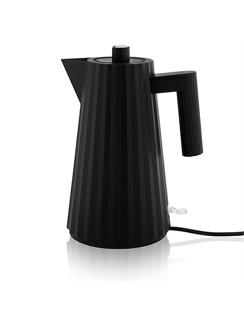 Plisse Electric Kettle In Black by Alessi