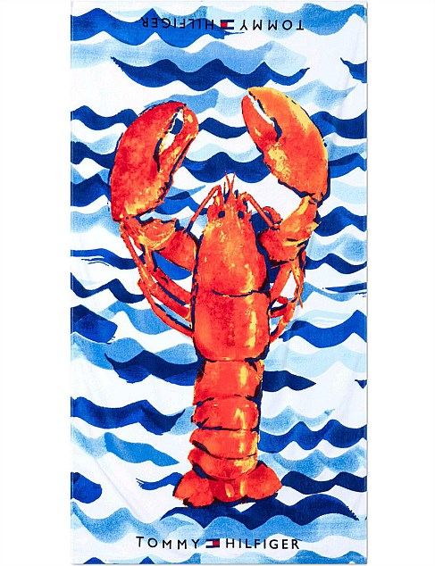 Painted Lobster Beach Towel