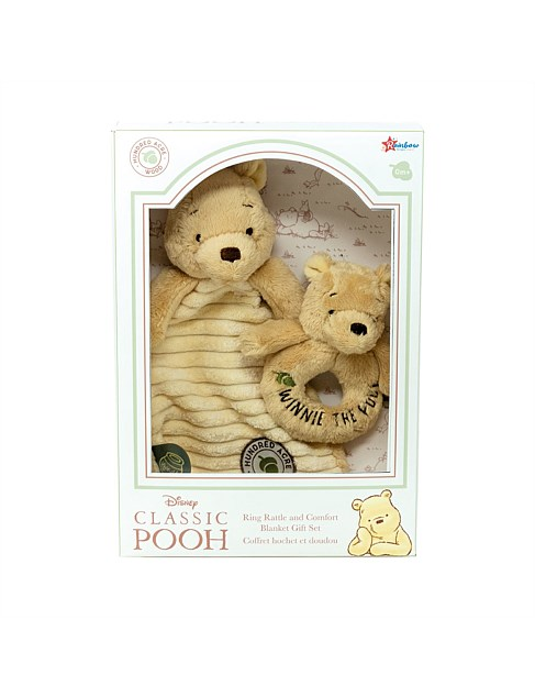 Classic Pooh Rattle & Comforter Gift Set