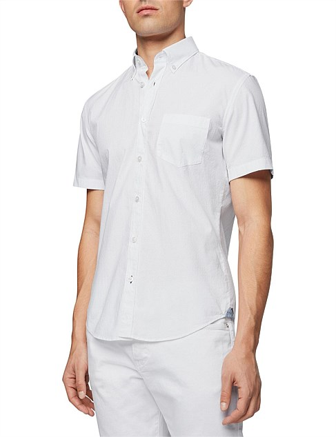 Slim-Fit Shirt In Stretch Cotton With Contrast Details