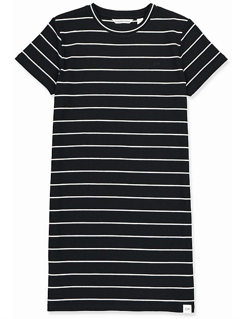 Stripe Rib Dress (Teen Girls 8-16)