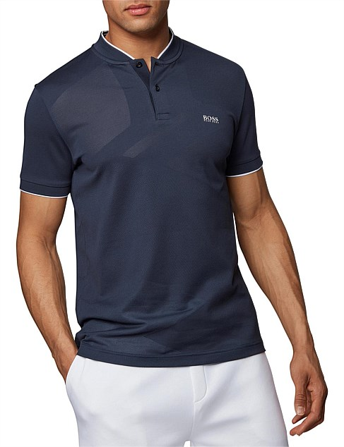 Slim-Fit Polo Shirt In Micro Jacquard With S.Café
