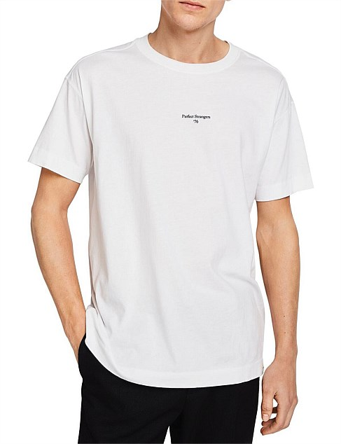 Organic Cotton crewneck jersey tee in dropped shoulder fit