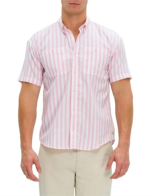 Summer striped shortsleeve shirt