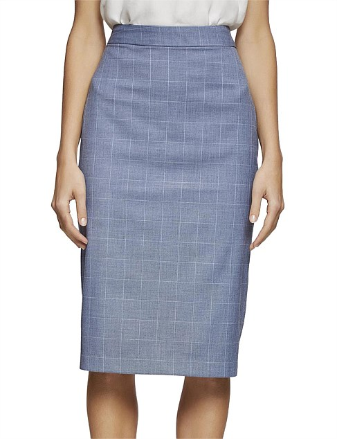 PEGGY CHECK SUIT SKIRT