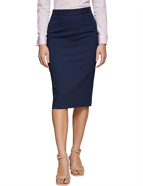 PEGGY WOOL LYCRA SUIT SKIRT