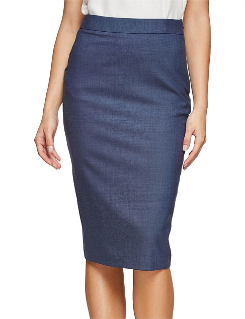 PEGGY WOOL STRETCH SUIT SKIRT