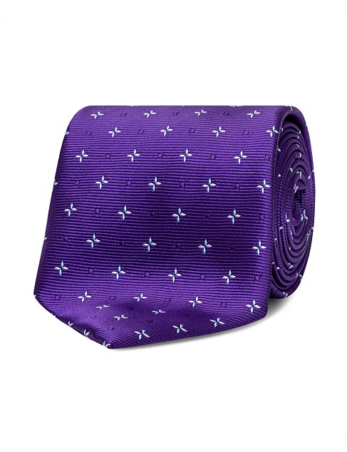 Navy with Pink & Blue Spot Tie