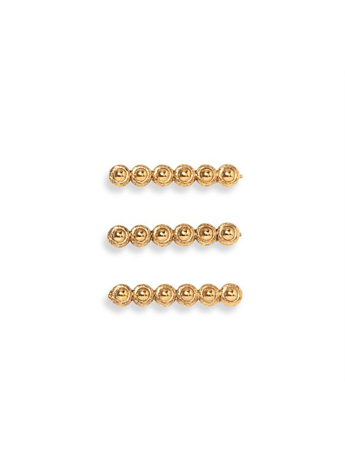 donatella bobby pin set of 3-gold