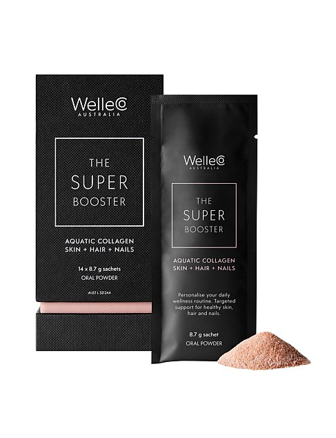 SUPER BOOSTERS Aquatic Collagen Skin + Hair + Nails 14pk Box