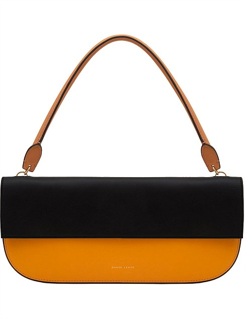 Baguette Mango Black Leather Shoulder Bag