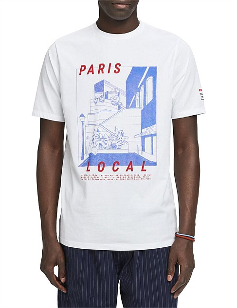 CREWNECK TEE WITH TOILE - DE - JOUY