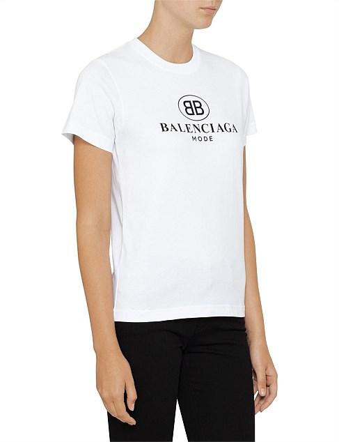 Bb Fitted T Shirt by Balenciaga