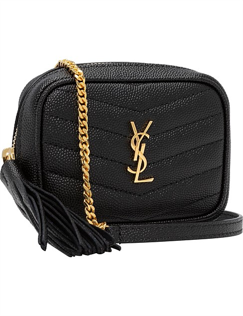 YSL NERO LEATHER KEYPOUCH WALLET