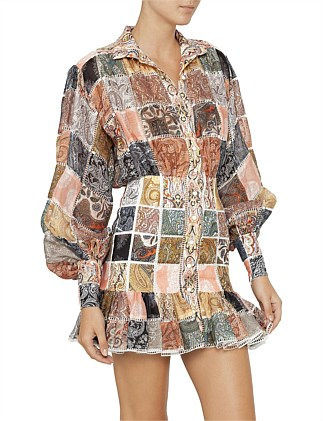 7d0aab667752 Ninety-Six Patch Mini Dress