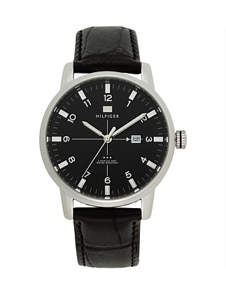 Mens Classic Leather 3 Hand Watch