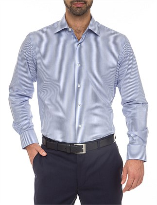 Alistair Classic Fit - Cotton/Polyester Stripe Shirt