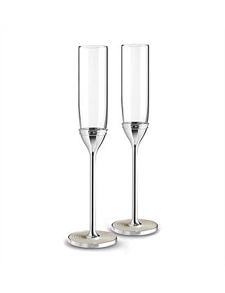 Vera Wang Wedgwood With Love Nouveau Pearl Flute Pair