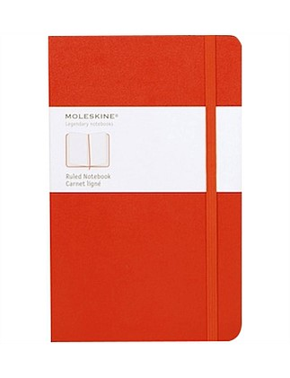 Hardcover Notebook Ruled Red Large