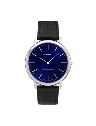 Harrison Stainless Steel, Blue Dial, Black Band