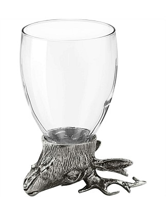 Deer Glass Tumbler 13cm