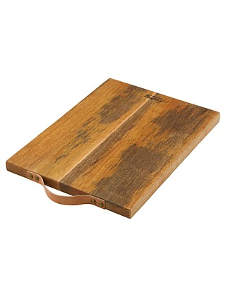 Eliot Chopping Board With Leather Handle 45x30x2.5