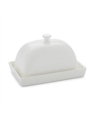 White Basics Rectangular Butter Dish