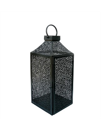 Perforated Black Small Lantern