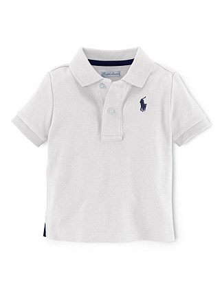 ad812503 Solid Basic Mesh Polo (0-24 Months) Special Offer. NAVY; White