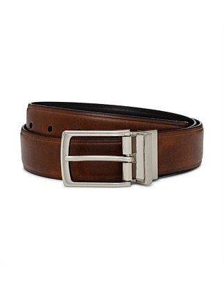 Reversible 32mm Polished Pin Buckle Belt