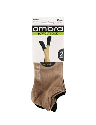 Amb Org Ctn Low Cut 2pp Sock