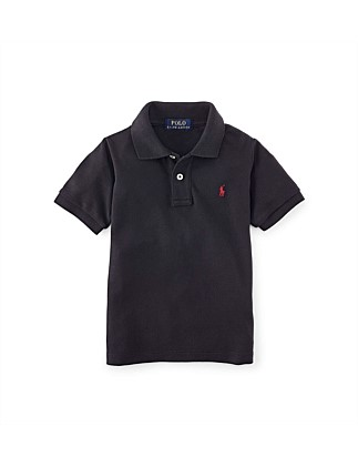 Solid Mesh Polo Shirt (2-7 Years)