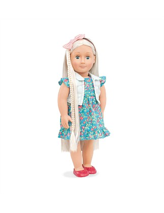 Pearl Blonde Hair Grow Doll
