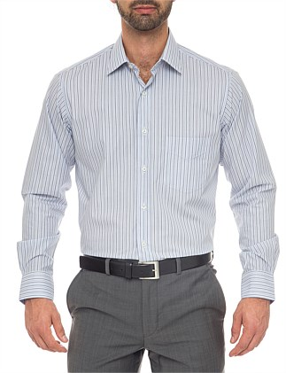 Patrick Classic Fit - Cotton/Polyester Stripe Shirt