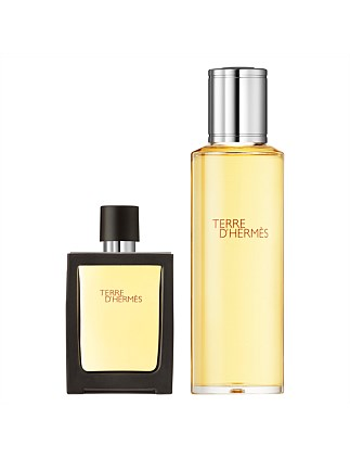 Terre d'Hermès, Parfum, 30 ml travel spray and 125 ml refill