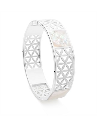 Marine Reflection Bangle, Mother of Pearl
