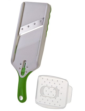 Hand Held Slicer With Finger Guard