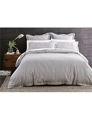 Heston Silver Quilt Cover King